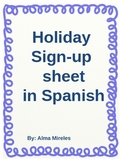 Spanish Hot Chocolate Party Sign-up Sheet