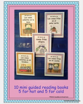 Spanish Hot Cold Guided Reading Books Colored