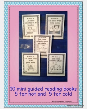 Spanish Hot Cold Mini Guided Reading Books BW
