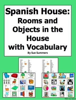Spanish House Flashcards and Game Cards With Vocabulary