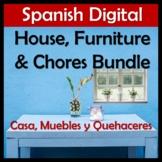 Spanish House, Furniture & Chores Digital Bundle - Casa, Muebles, Quehaceres