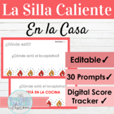 EDITABLE Spanish House and Prepositions Hot Seat Game   La