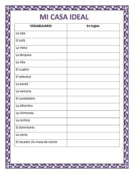 Spanish House- Proyecto de la Casa Ideal-Label & Describe