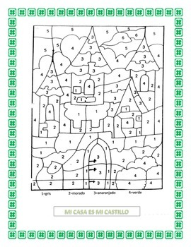 Spanish House- St Patrick's Theme- Vocabulary & Writing Prompt of Ideal Home