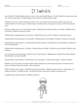Spanish House Story - El ladrón