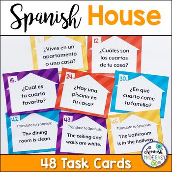La Casa (The House) Spanish Task Cards