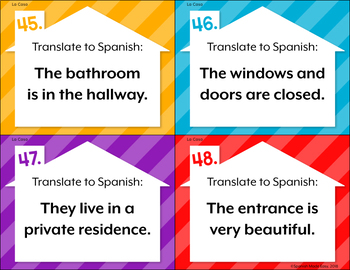 La Casa The House Spanish Task Cards By Spanish Made Easy Tpt