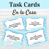 Spanish House Vocab and Prepositions Task Cards