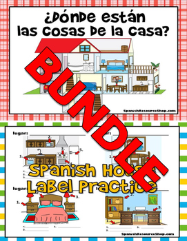 Spanish House Vocabulary Oral Practice and Labels Powerpoi