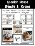 House: Vocabulary Posters & Flip Cards in English