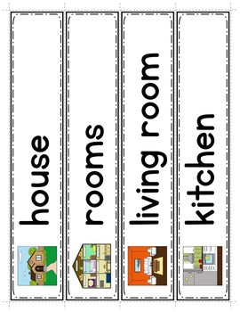 Spanish House: Word Wall in English