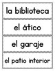 Spanish House: Word Wall in Spanish
