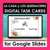 Spanish House and Chore Vocabulary Google Slides | Digital