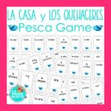 Spanish House and Chore Vocabulary Pesca Go Fish Game | La