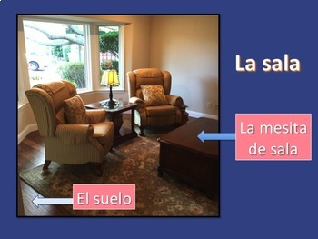 Spanish House and Chores Power Point and Interactive Notebook Activites