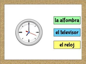 Spanish House/Home Flashcards and Word Wall