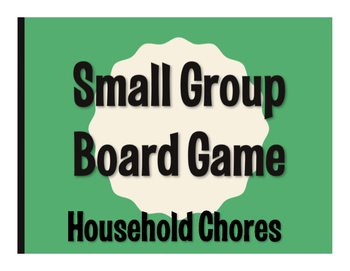 Spanish Household Chores Board Game