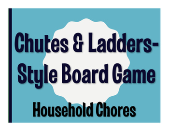 Spanish Household Chores Chutes and Ladders-Style Game
