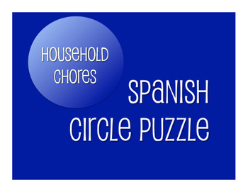 Spanish Household Chores Circle Puzzle