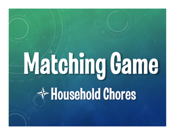 Spanish Household Chores Matching Game