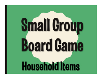 Spanish Household Items Board Game