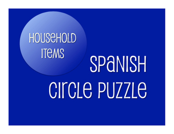 Spanish Household Items Circle Puzzle