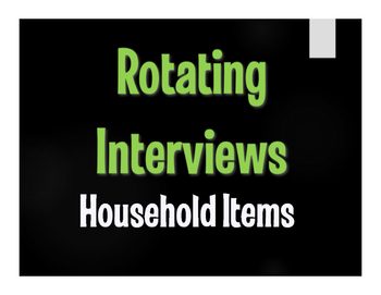 Spanish Household Items Rotating Interviews