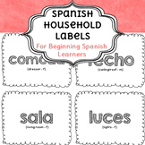 Spanish Household Labels for Beginning Spanish Learners