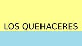 Spanish Household Chores Vocabulary PowerPoint