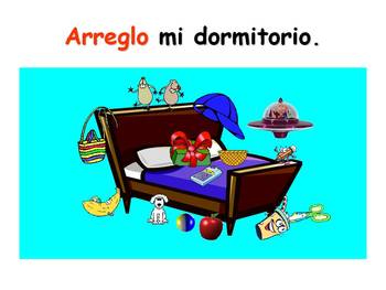 Spanish Teaching Resources. Household chores + Present Tense PowerPoint