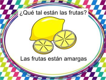 Spanish How Foods Taste Powerpoint with Estar