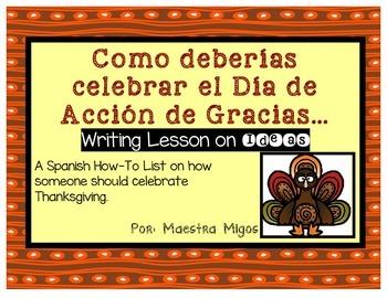 Spanish How-To: Como deberias celebrar Dia de Accion de gracias