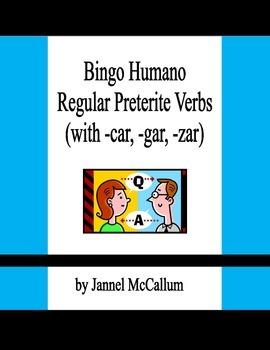 Spanish Human Bingo Game - Regular Preterite Verbs