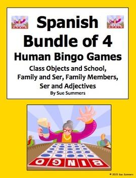 Spanish Human Bingo Game Speaking and Written Follow-Up Bu