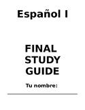 Spanish I 1 Realidades Cumulative Final Midterm Study Guid