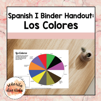Spanish I Binder Handout: Colors / Los Colores