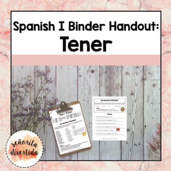Spanish I Binder Handout: Idiomatic Expressions