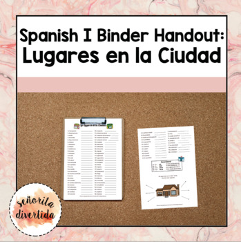 Spanish I Binder Handout: Places in the City