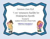 Spanish I Can Statement Checklist for Kindergarten