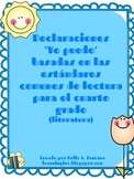 I CAN Statements for Journals ( 4th grade / Literature / Spanish )