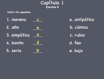 Spanish I - ¿Cómo somos? Keynote Slideshow - Mac/Ipad