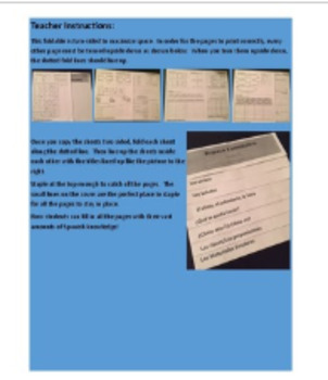 Spanish I First Semester Review Foldable