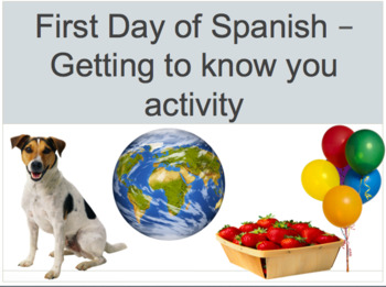 Spanish I First day of school activity