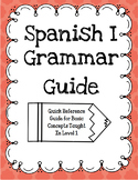 Spanish I Grammar Guide