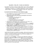 Spanish I Realidades Tema 4 4a 4b Project Invitation Ir a