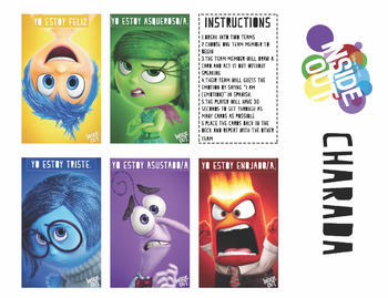 Spanish I: Sentimientos with Inside Out Characters