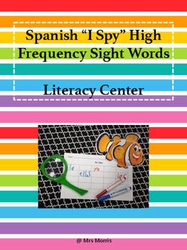 Spanish I Spy Literacy Center FREEBIE