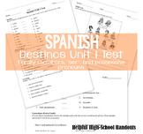 Spanish Unit 1 Test (Destinos) Family Members, Ser & Possessive Pronouons