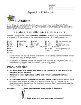 Spanish I Unit, 22 Pages: Intros, Basic Questions w/Written & Oral Assessment