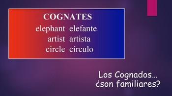 Spanish I Unit- Cognates (Noun and Adjective) & Intro to Adjective Agreement